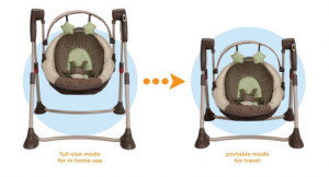 graco swing by me gull size mode to portable mode